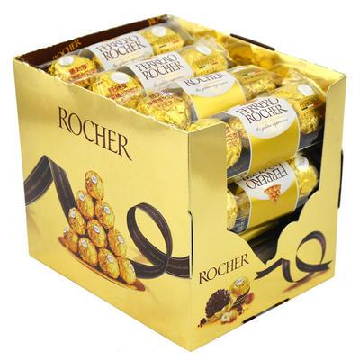 Ferrero Rocher费列罗威化榛仁夹心巧克力T3*16粒装意大利进口婚庆喜糖巧克力礼盒装节日礼物礼品