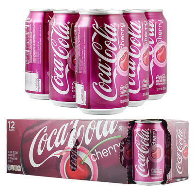 COCA-COLA可口可乐汽水樱桃口味355ml(美国进口 听)*12整箱装