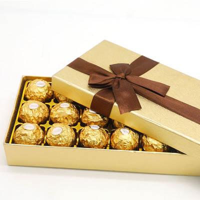 费列罗FerreroRocher进口巧克力榛仁夹心巧克力婚庆喜糖礼盒节日礼物礼品T30粒装*2盒七夕情人节礼物