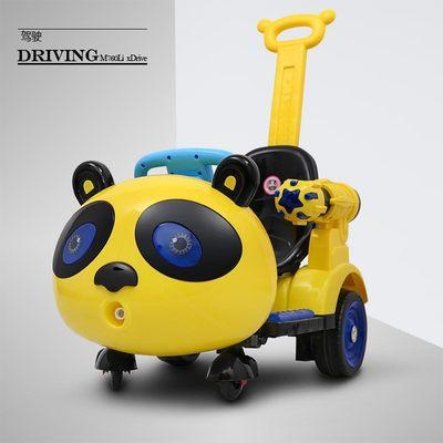 儿童电动车摇摆童车四轮室内车带遥控玩具车可坐人摩托车电动汽车
