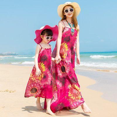 泰国旅游沙滩裙女夏2017新款波西米亚海边度假显瘦性感连衣裙长裙