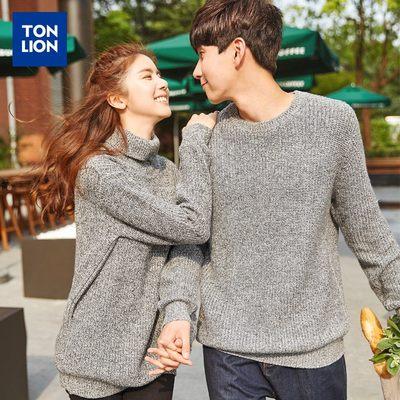 唐狮情侣装毛衣男秋季新款圆领套头韩版学生针织衫线衣百搭上衣潮