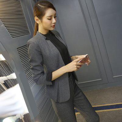职业装套装女2017新款时尚秋冬气质OL商务面试西装正装西服工作服