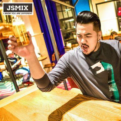JSMIX胖胖星球大码男装加肥加大宽松潮胖子趣味印花长袖T恤春季