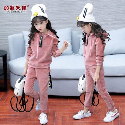 女童秋装套装2018新款韩版女孩中大童装春秋季儿童休闲运动两件套