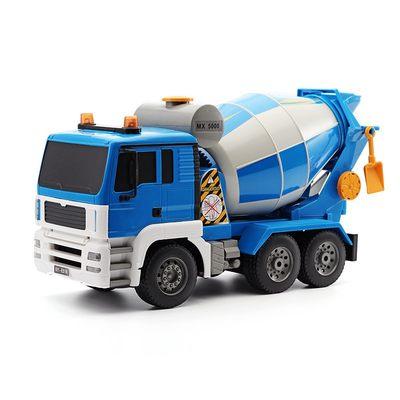 双鹰遥控搅拌车工程车电动玩具水泥车混凝土罐车汽车模型儿童男孩