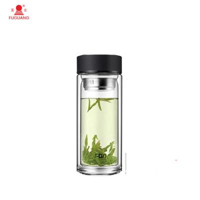 富光(FUGUANG) 玻璃杯WFB1020-500 500ml男女士带茶隔 便携创意双层泡茶玻璃水杯 500ml