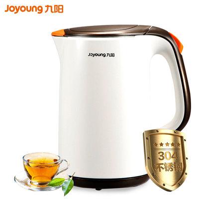 九阳(Joyoung)电水壶 K17-F66 容量1.7L 国产温控器 不锈钢电热水壶双层保温防烫 无缝内胆烧水壶